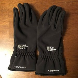 North Face Black Touch Screen Winter Gloves
